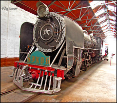 SINDH @ Rewari steam heritage shed (Raj Kumar (The Rail Enthusiast)) Tags: old chimney heritage water speed coach delhi indian smoke shed rail steam piston british locomotive yg coal broad wp railways 90 narrow sindh boiler wg akbar raj yp kumar guage vaccum xe rewari angadh