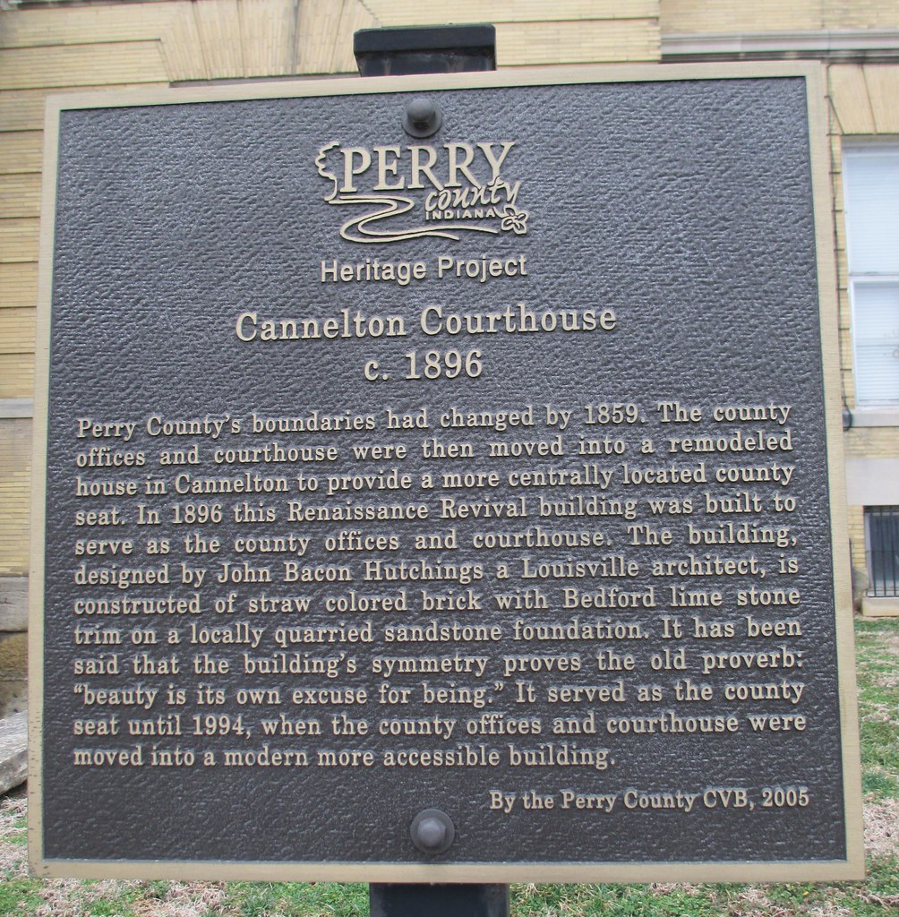 Indiana perry county cannelton - Old Perry County Courthouse Marker Cannelton Indiana Courthouselover Tags Indiana