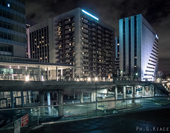 La Defense - Paris Urban Night Exploration (Giovanni Chiaia (aka Kiace)) Tags: street city urban streets night landscape concrete photography lights visions pentax explore midnight suspenced kiace