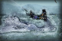 Kitesurf Tarifa (MarcialCG) Tags: photoshop spain surf wind cadiz kitesurf tarifa