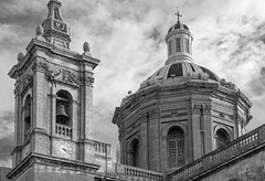 Rabat Church (explored 29 May 2016) (kurjuz) Tags: rabatparishchurch stpauls belltower building dome