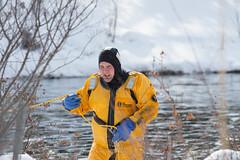 lake katherine. february 2015 (timp37) Tags: winter rescue lake ice fire katherine suit february heights palos 2015