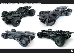 Lego Batman v Superman Batmobile Parallel (Simple1DEA) Tags: dark comics toys dawn justice dc lego superman v batman knight vs superheroes batmobile league moc bvs batmanvsuperman