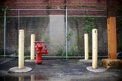 (John Donges) Tags: red philadelphia hydrant industrial factory warehouse 4028 graysferryavenue