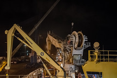 New Wire Installation (SPMac) Tags: new night wire support mt drum crane vessel ghana forza change service rem finder ssv reeve supply maersk takoradi subsea 6022 hyrdamarine