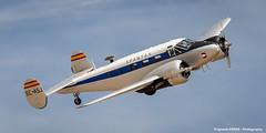 Beechcraft C-45 (Ignacio Ferre) Tags: madrid airplane spain nikon aircraft airshow takeoff avin fio lecu cuatrovientos spantax fundacininfantedeorleans beechcraftc45