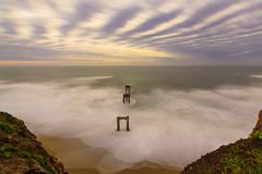 Davenport Cliffs Sunset (thekylecoats) Tags: ocean ca sunset sky cloud beach roadtrip pch