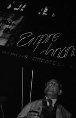 Empire, Leicester Square, London, c1979 (Dr John2005) Tags: street city urban blackandwhite london night unitedkingdom empire leicestersquare inversion 1978 westend c1979 johnperivolaris
