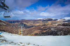 10 The Quick Way Down (daedmike) Tags: autumn winter snow mountains ice scotland highlands skiing glenshee hills skilift hillwalking munro cairnwell