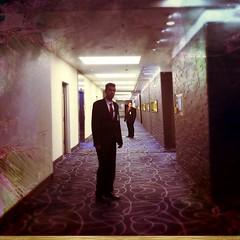 Good evening, Mr. Torrance (Casey Hugelfink) Tags: munich mnchen carpet hotel design interior corridor hilton security suit ballroom ropes stephenking korridor anzug securityguards theshining hiltonhotel schlingen teppichboden overlookhotel ballsaal tucherpark thegoldroom