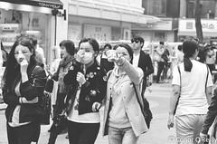 Transition (Conor O'Reilly) Tags: street city people urban blackandwhite monochrome mono nikon women asia faces streetphotography korea seoul southkorea plasticsurgery bnw streetscenes bandages cosmetic myeongdong postsurgery streetwalkers vsco d5100