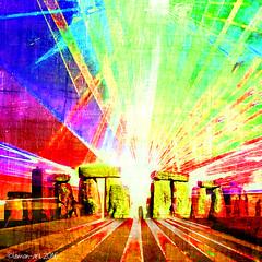 Summer Solstice (Lemon~art) Tags: light summer colour texture sunrise dawn ancient midsummer stones manipulation solstice stonehenge ritual summersolstice midsummersday