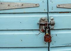 Rusty Padlock (TD2112) Tags: wood blue beach coast wooden rusty dorset padlock beachhuts mudeford rusy mikebrowne tonyduke
