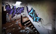 Abandoned Staircase (Crazy Mister Sketch) Tags: street streetart art abandoned wall painting lost graffiti austria tirol sketch sterreich crazy artwork place tags hidden mister spraypaint walls lettering piece spraycanart spraycan wildstyle urbex spraycans stylewriting
