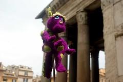 Pantheon Square, Rome (nothinginside) Tags: italy rome roma primavera square spring dragon purple pantheon may knit guide piazza viola invasion drago maggio touristic guida turistic 2016 invasione