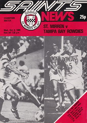 St Mirren vs Tampa Bay Rowdies - 1980 - Cover Page (The Sky Strikers) Tags: street love st tampa bay official exhibition match paisley programme rowdies mirren 25p