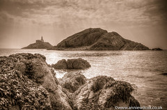 The Mumbles Lighthouse (anniew69) Tags: uk greatbritain blackandwhite bw seaweed monochrome swansea wales blackwhite europe britishisles unitedkingdom britain may british mumbles sunrays lightbeam bristolchannel swanseabay mumbleslighthouse 2016 mumbleshead themumbles thegower mumblespier photographytechnique anniewilcox wwwanniewilcoxcouk anniew69