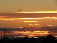 Sunset (spaceyt29) Tags: sunset sky orange sun clouds aeroplane