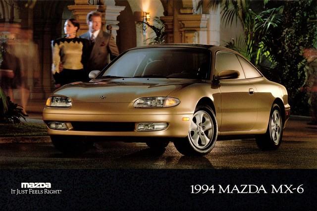 postcard 1994 mazda mx6