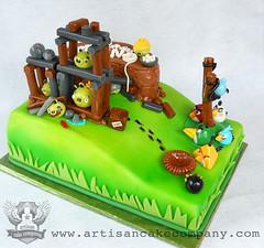 angry_birds_cake (ArtisanCakeCompany) Tags: cake oregon portland bakery artisan sculpted fondant artisancakecompany