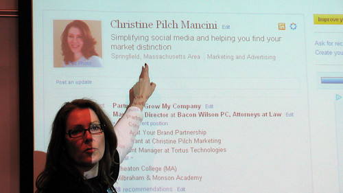 Christine Pilch demonstrated LinkedIn profile optimization