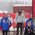 Rossland Miele Cup, 25.02.2012 - SL top 3 J1 women and most improved