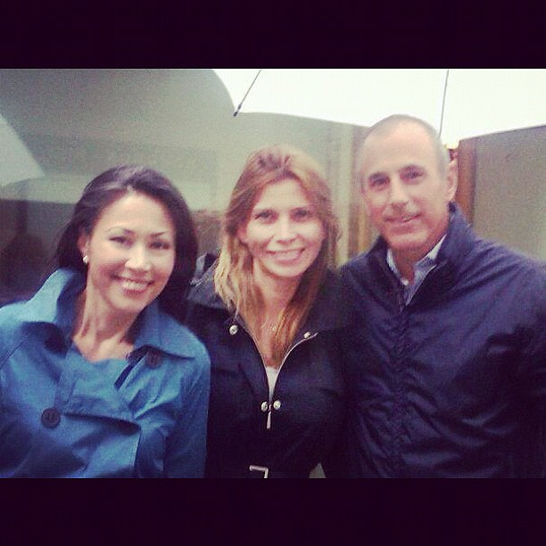 Ann Curry,Denny Alfonso,MATT LAUER . Today Show NBC