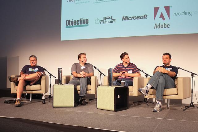 "The panel - John ""I'm from Canberra and I'm here to help"" Sheridan, Nathan Scholz (QR), Craig Thomler (eGov AU), James Kliemt (QPS)"