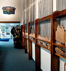 Fly fishing rods and reels at The Bear's Den. (Paul Broderick) Tags: usa flyfishing bearsden flyrods nikond90 flyfishingstore flyfishingproducts rodsforsale scottwessels flyfishingcompany