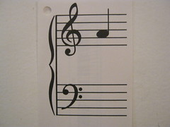 Treble clef music note A