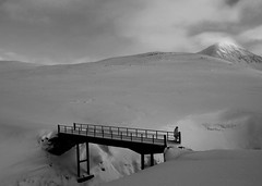 The Bridge (Sverrir Thorolfsson) Tags: bridge snow ice strange iceland mountainrange sverrir sverrirorolfsson