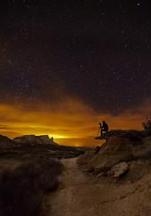 El fotógrafo (martin zalba) Tags: night stars landscape star noche paisaje estrellas estrella iker navarra bardenas aizkorbe