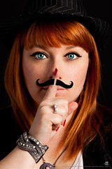 Mustache Girl (Greg Cervall) Tags: portrait france macro canon studio is mark ii 5d usm annesophie mkii objectif guyancourt anso fy f28l ef100mm 78280