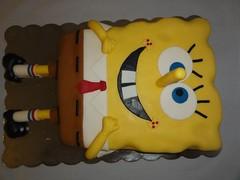 Spongebob (Kageting.dk) Tags: cake modelling kage fondant fdselsdagskage sugarmodelling