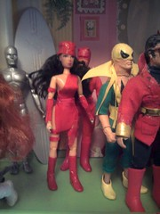 Celebration at the Avenger's Mansion (catersondamon) Tags: black hot museum america comics paul suck justice dc dolls wasp thing brian ghost balls lick celebration eat doctor crap pile captain shit hawkeye mansion custom thor testicles marvel widow society rider panther clarke league forward avengers steaming mego customize leitner