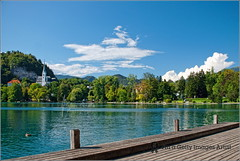 Summer clouds @ Bled Lake (Stefan Cioata) Tags: blue summer vacation cloud lake holiday green tourism church nature water beautiful clouds relax landscape photography photo europe break image sale great stock dream tourist calm best explore deck slovenia shore getty destination top10 azzurro available ponton outstanding jezero radovljica touristical blejsko blesko