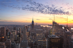 Empire State of Mind | Top of the Rock, New York City (ctlim76) Tags: newyorkcity newyork manhattan empirestate rockefeller topoftherock urbanscapes newyorksunset christianlim