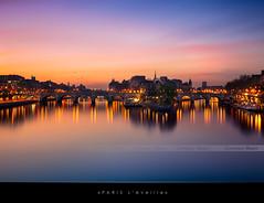 Paris s'éveille (Beboy_photographies) Tags: blue paris france saint seine louis cité arts ile des hour pont saintlouis neuf hdr matin photographies beboy