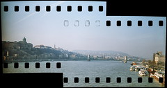 Budapest Panorama 2 x 35 mm (lumpy79) Tags: zorki film analog 35mm 1st district budapest v zenit fed 5th industar zorki6 lgf i kerlet lnyigergelyferenc