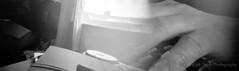 Mintymorph Hand (The Old Penfold) Tags: blackandwhite 35mm iso100 diy fuji pinhole homemade diafine fujifilm neopan analogue acros anamorphic anamorph canamorph mintymorph