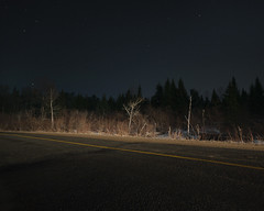 (Benoit.P) Tags: road light art nature car forest landscape poetry mood glow magic fineart 8x10 experimentation beside instalation colr