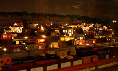 Night Time Over the Train Yard (When lost in.....) Tags: railroad rural model corn iowa choo diorama touristattractions modelrailroads centraliowa trainlandusa trainmuseums placesneari80