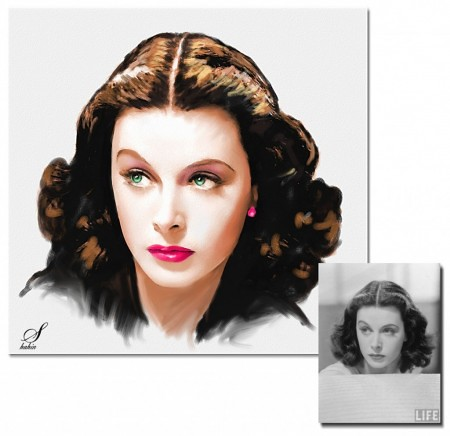 HEDY LAMARR in oil