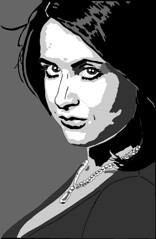 18 February 2012 (stiobhard) Tags: ireland portrait irish woman white black monochrome face television illustration grey design graphicdesign graphic handmade drawing gray pearls website mairead ban gaeilge markers greyscale prismacolors dubh patricknagel tg4 gaeilgeoir graphictour limitedpalette stiobhard aimsir teilifis paisean faisean maireadnichuaig tg4presenter paiseanfaisean