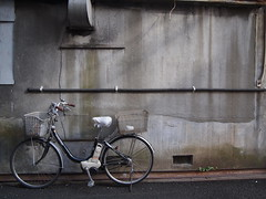 自転車と壁 (がじゅ) Tags: 散歩 自転車 湯島 epl2