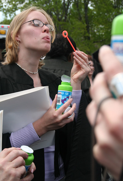 Grad Blowing Bubbles