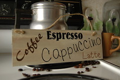 Coffee, Espresso, Cappuccino, Latte, wood sign (StaciGcreations) Tags: wood brown house signs black hot home kitchen coffee sign painting creativity cafe paint drink crafts painted country rustic beverage creative craft wallart gift hanging espresso crafty coffeehouse latte cappuccino barista hang homedecor twine hung wallsigns decrative giftideas woodsigns