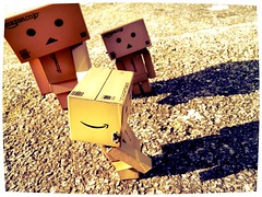 Comparing Shadows (ghostsecurity28) Tags: toys dolls creative experiment adventures figures danbo danboard