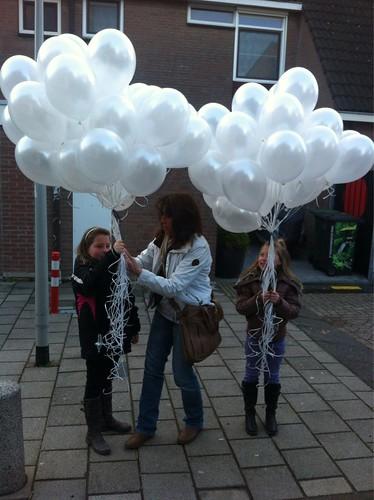 Heliumballonnen Metallic Wit