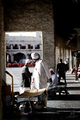 -::::::::- (|ANA-'3EER|) Tags: old morning man men working worker souq  doha qatar       waqif   waqef